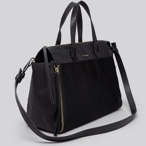 POUR LA VICTOIRE Etage Leather & Calf Hair Satchel